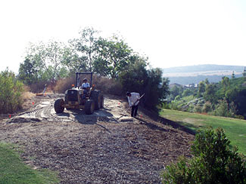 course repair with heavy equipment