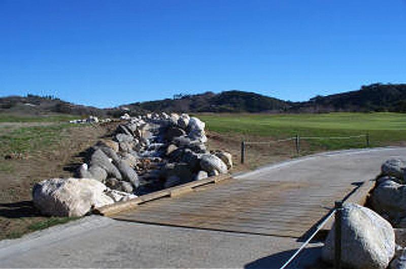 rock stream and bridge