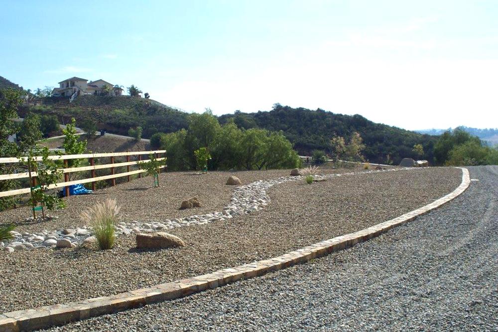 rock path and border